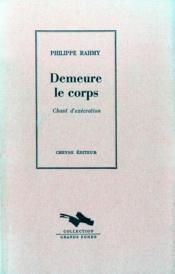 Demeure Le Corps - Chant D'Execration - Couverture - Format classique