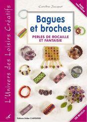 Bagues et broches ; perles de rocaille et fantaisie t.2 - Intérieur - Format classique