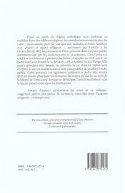 L'Eglise Dans La Rue. Les Ceremonies Exterieures Du Culte En France A U 19e Siecle. Colloque De Limo - 4ème de couverture - Format classique