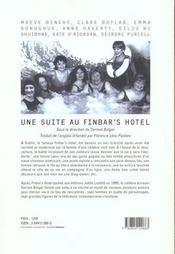 Une suite au Finbar's hotel - 4ème de couverture - Format classique