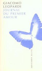 Journal du premier amour - Intérieur - Format classique