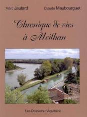 Chroniques de vies a meilhan - Couverture - Format classique