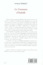 La couronne d'isabelle - 4ème de couverture - Format classique
