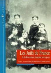 Les juifs de france de la revolution francaise a nos jours - Couverture - Format classique