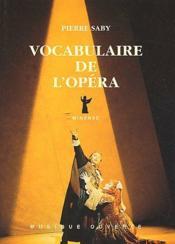 Vocabulaire de l'opéra - Couverture - Format classique