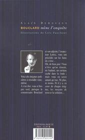Les Enquetes Du Commissaire Bouclard - 4ème de couverture - Format classique