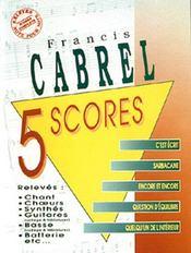 Cabrel ; 5 scores - Couverture - Format classique