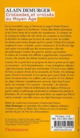 Croisades et croisés au Moyen Âge - 4ème de couverture - Format classique