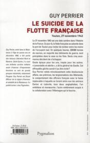 Le suicide de la flotte française - 4ème de couverture - Format classique