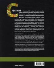 Créativité et gestion ; des idées au service de l'innovation - 4ème de couverture - Format classique