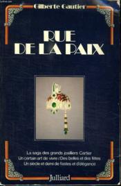 Rue De La Paix. - Couverture - Format classique