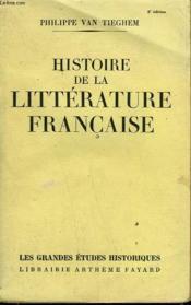 Histoire De La Litterature Francaise. - Couverture - Format classique