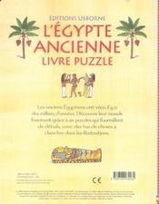 L'égypte ancienne - 4ème de couverture - Format classique