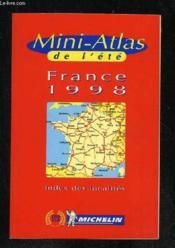Mini Atlas De L'Ete France 1998 - Couverture - Format classique