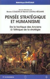 Pensee strategique et humanisme - Intérieur - Format classique