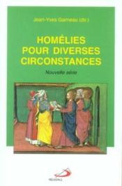 Homelies pour diverses circonstances - nouvelle serie - Couverture - Format classique