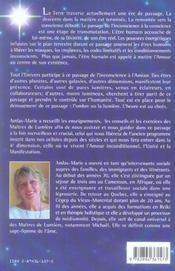 De l'inconscience à l'amour ; enseignements des maîtres de lumière - 4ème de couverture - Format classique