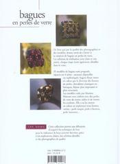 Bagues En Perles De Verre - 4ème de couverture - Format classique