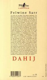 Dahij - 4ème de couverture - Format classique