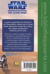 Star wars - the clone wars t.2 ; les secrets de la République - 4ème de couverture - Format classique