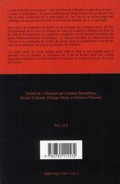 Esthétique sociologique - 4ème de couverture - Format classique
