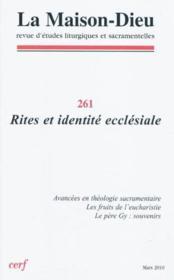 Revue La Maison-Dieu N.261 - Couverture - Format classique