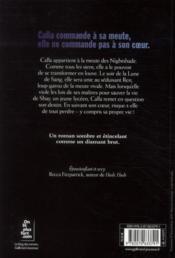 Nightshade t.1 ; lune de sang - 4ème de couverture - Format classique