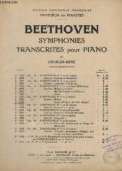 Symphonies Transcrites Pour Piano - N° P. 1389 - Op.60 - Symphonie N°4 Extrait : Finale (Allegro Ma Non Troppo). - Couverture - Format classique