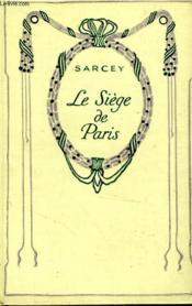 Le siège de Paris. - Couverture - Format classique