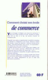 Comment Choisir Son Ecole De Commerce - 4ème de couverture - Format classique