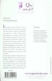 L'islam contemporain (7ed) (7e édition) - 4ème de couverture - Format classique