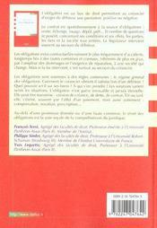 Droit Civil ; Les Obligations ; 8e Edition - 4ème de couverture - Format classique