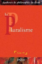 Le pluralisme - Couverture - Format classique
