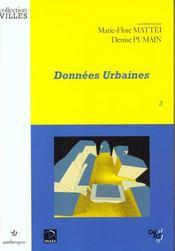 Donnees Urbaines T.3 - Intérieur - Format classique