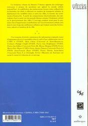 Donnees Urbaines T.3 - 4ème de couverture - Format classique