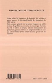 Physiologie De L'Homme De Loi Par Un Homme De Plume - 4ème de couverture - Format classique