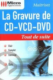 La gravure de cd-vcd-dvd - Intérieur - Format classique
