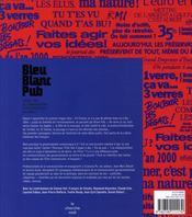Bleu, blanc, pub ; 30 ans de communication gouvernementale en France - 4ème de couverture - Format classique
