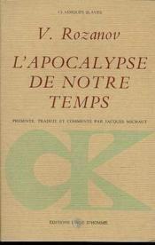 Apocalypse De Notre Temps (L') - Couverture - Format classique
