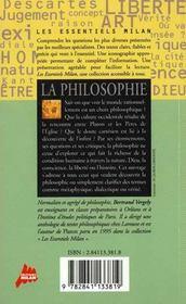 La philosophie - 4ème de couverture - Format classique