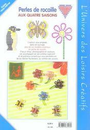 Perles de rocaille aux quatre saisons t.5 - 4ème de couverture - Format classique
