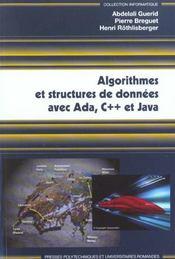 Algorithmes et structures de donnees avec ada, c++ et java - Intérieur - Format classique