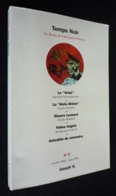 Revue Temps Noir - Couverture - Format classique