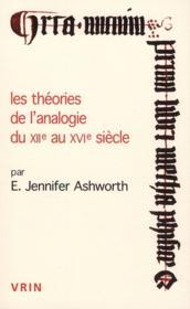Les théories de l'analogie du XII au XVI siècle - Couverture - Format classique
