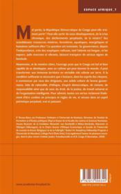 Principes de gouvernance politique éthique...et le Congo sera sauvé - 4ème de couverture - Format classique