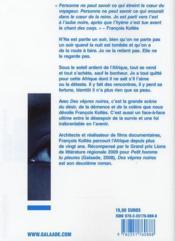 Des vêpres noires - 4ème de couverture - Format classique