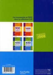 C.L.R ; français ; 450 dictées ; CM ; livre de l'élève (édition 2010) - 4ème de couverture - Format classique
