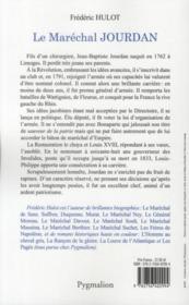 Le maréchal Jourdan - 4ème de couverture - Format classique