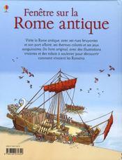 FENETRE SUR ; fenêtre sur la rome antique - 4ème de couverture - Format classique