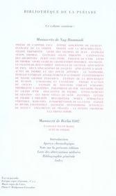 Écrits gnostiques ; la bibliothèque de Nag Hammadi - 4ème de couverture - Format classique